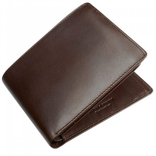 Leather Wallet - 9 Cards & Coin Pockets - Brown